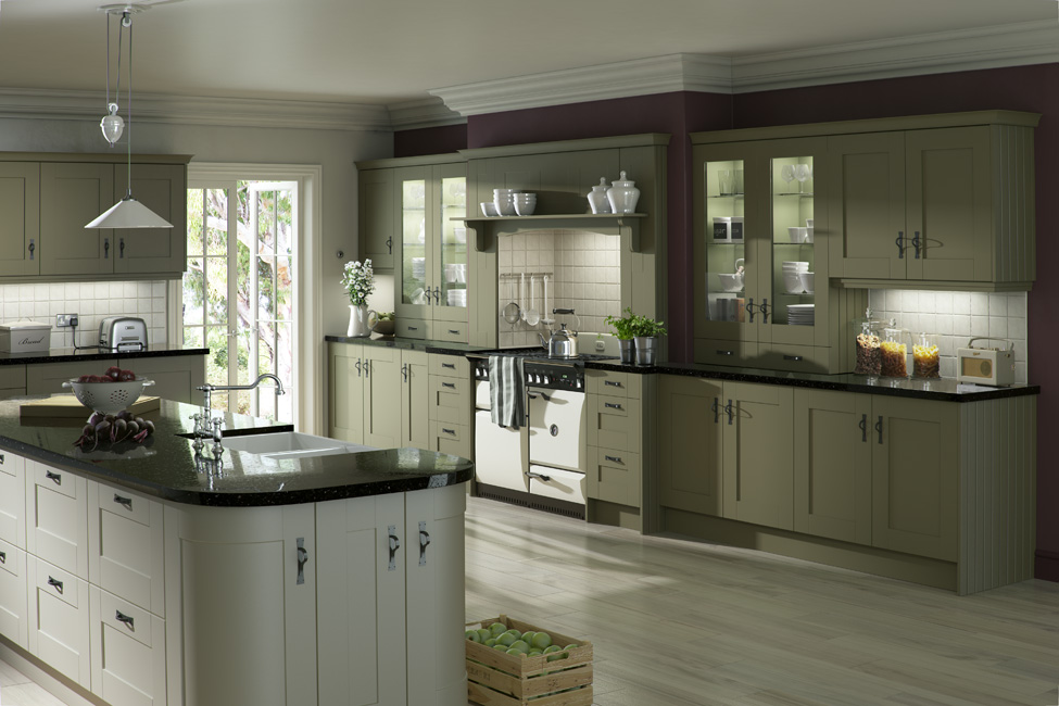 Olive Green Paint In Kitchen